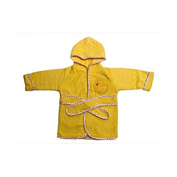 Baby Ducky Design Bathrobe - Peach
